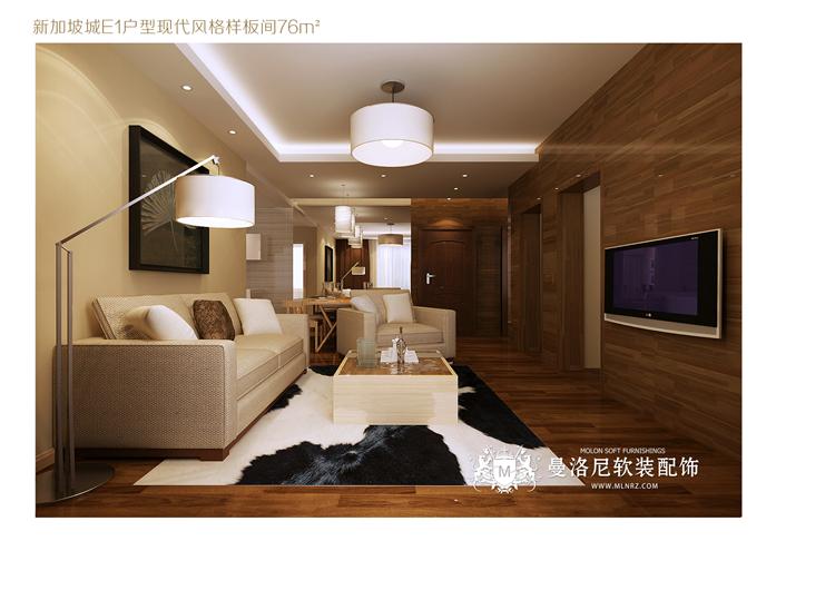76平米现代风格软装设计
