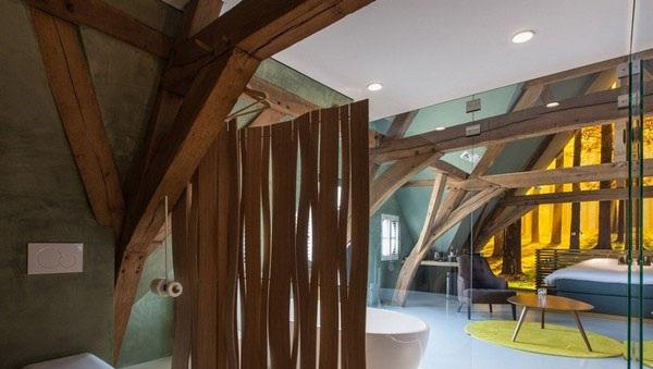 这个极具有创意思维酒店客房设计来源于比利时的一图片
