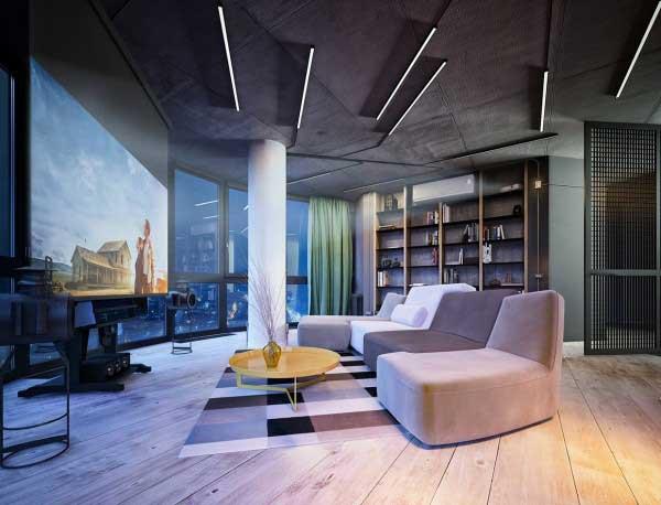 充满艺术气息的工业元素风格loft设计