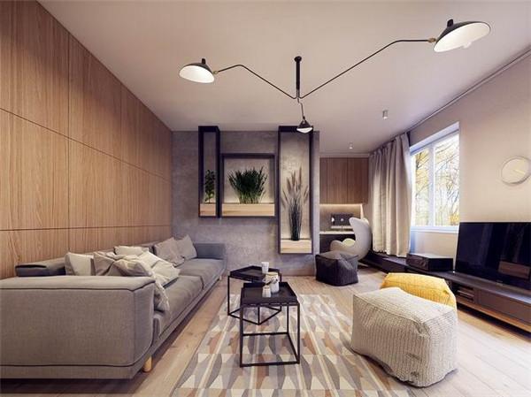 国外60平米现代简约的公寓设计