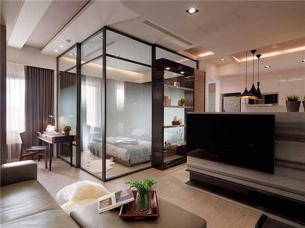 50平米精致小户型公寓软装设计2