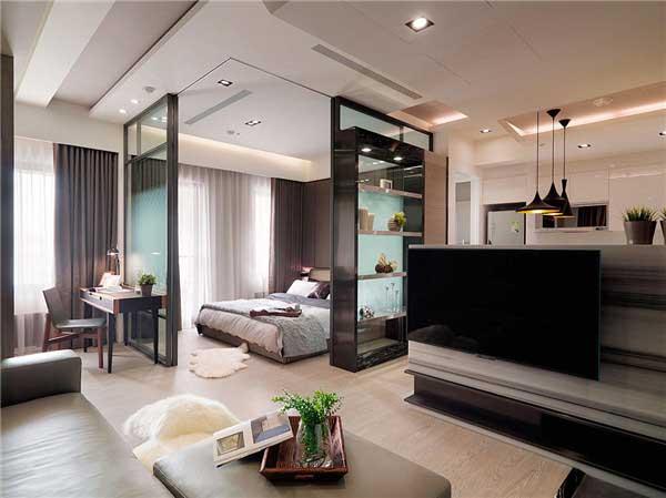 50平米精致小户型公寓软装设计3