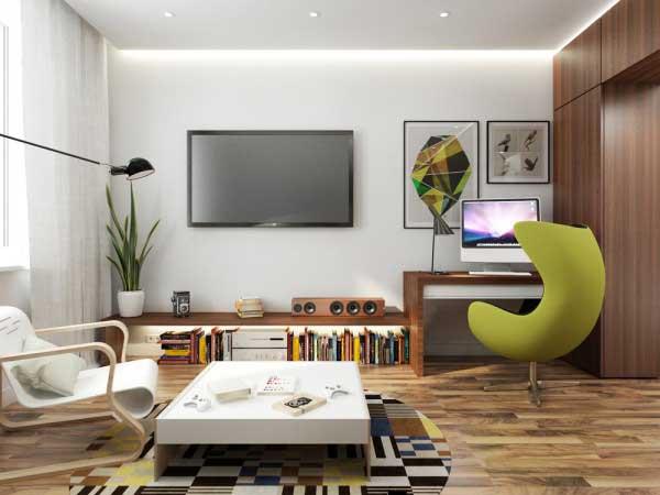漂亮的50平米小公寓软装设计15