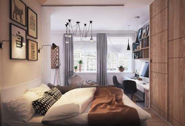 漂亮的50平米小公寓软装设计6