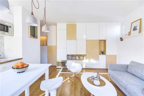 大户型敞亮,小户型创意。买了小户型,如何能够让它变得敞亮大气,是小户型家居软装饰最重要的考虑因素。通常的做法是功能区空间合并。北京软装设计公司曼洛尼软装与您分享一款30平米现代简约小户型公寓设计,很唯美的一幅现代简约作品,希望能对您的家居软装饰有所帮助!