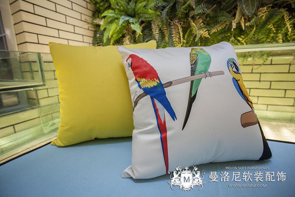 波普风格清新田园定制沙发枕