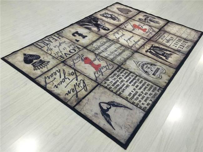 无纺布超逼真3D定制地毯