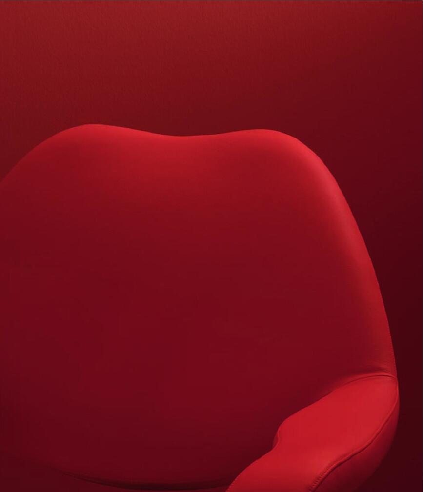 Poltrona Frau-现代风格大红色沙发