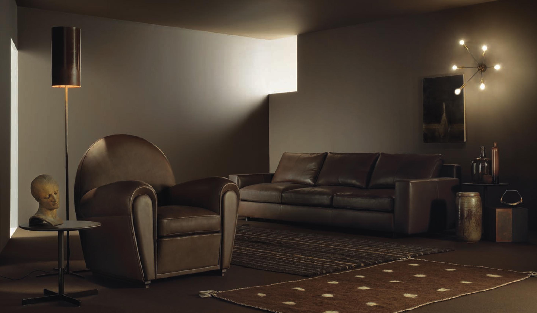 Poltrona Frau-咖啡色高端沙发