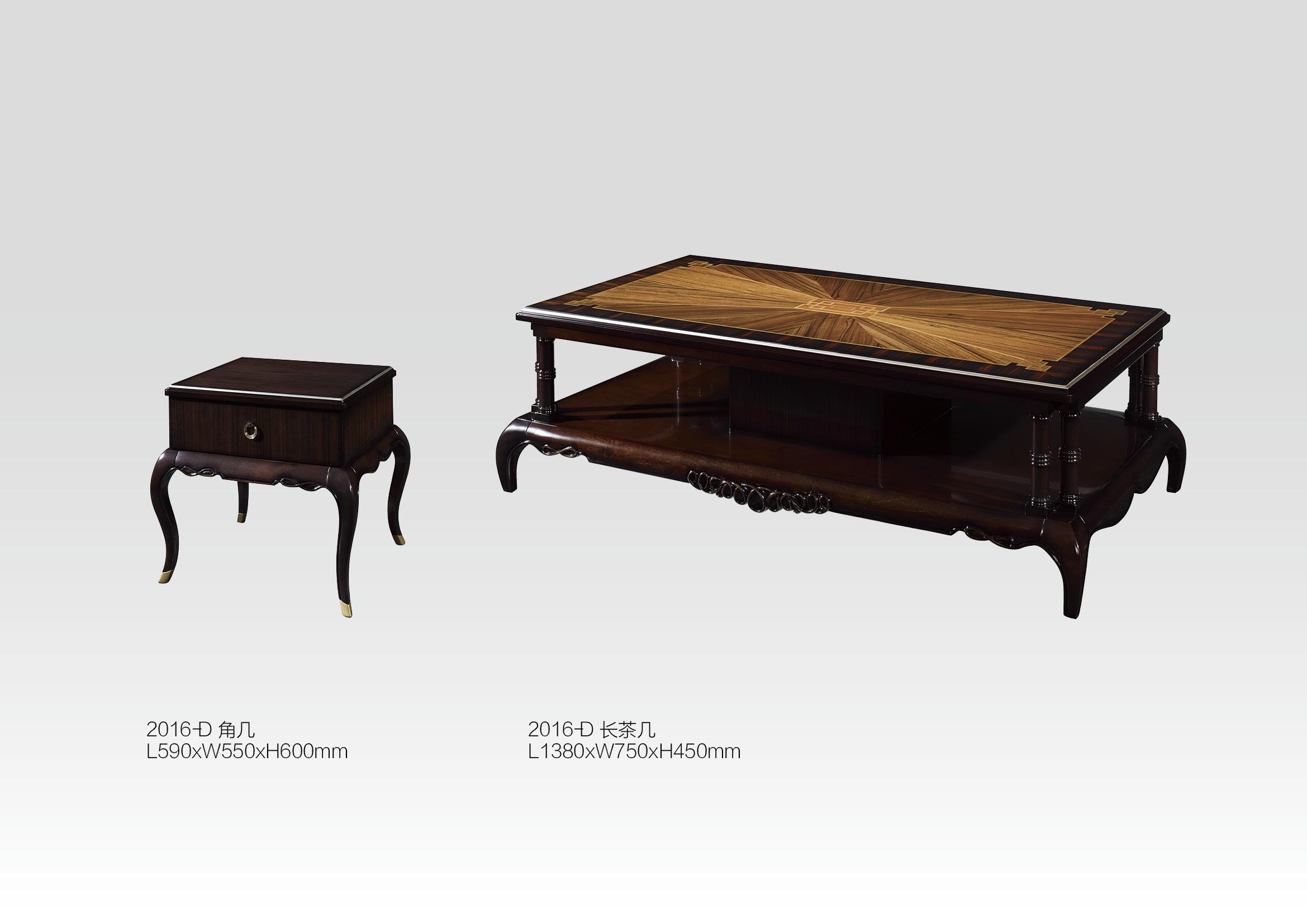 实木茶几桌欧式高端客厅长茶几、欧式酒红色实木角几美式仿古雕刻小方几