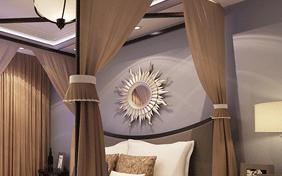 卧室精美太阳装饰镜