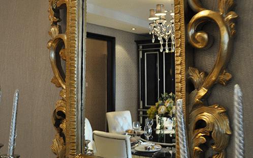 奢华大气方形装饰镜
