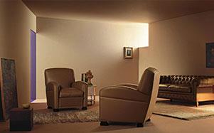 Poltrona Frau真皮棕色沙发