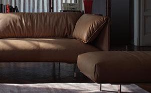 Poltrona Frau-赤褐色组合沙发