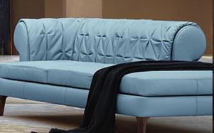 Poltrona Frau-浅蓝色高端沙发