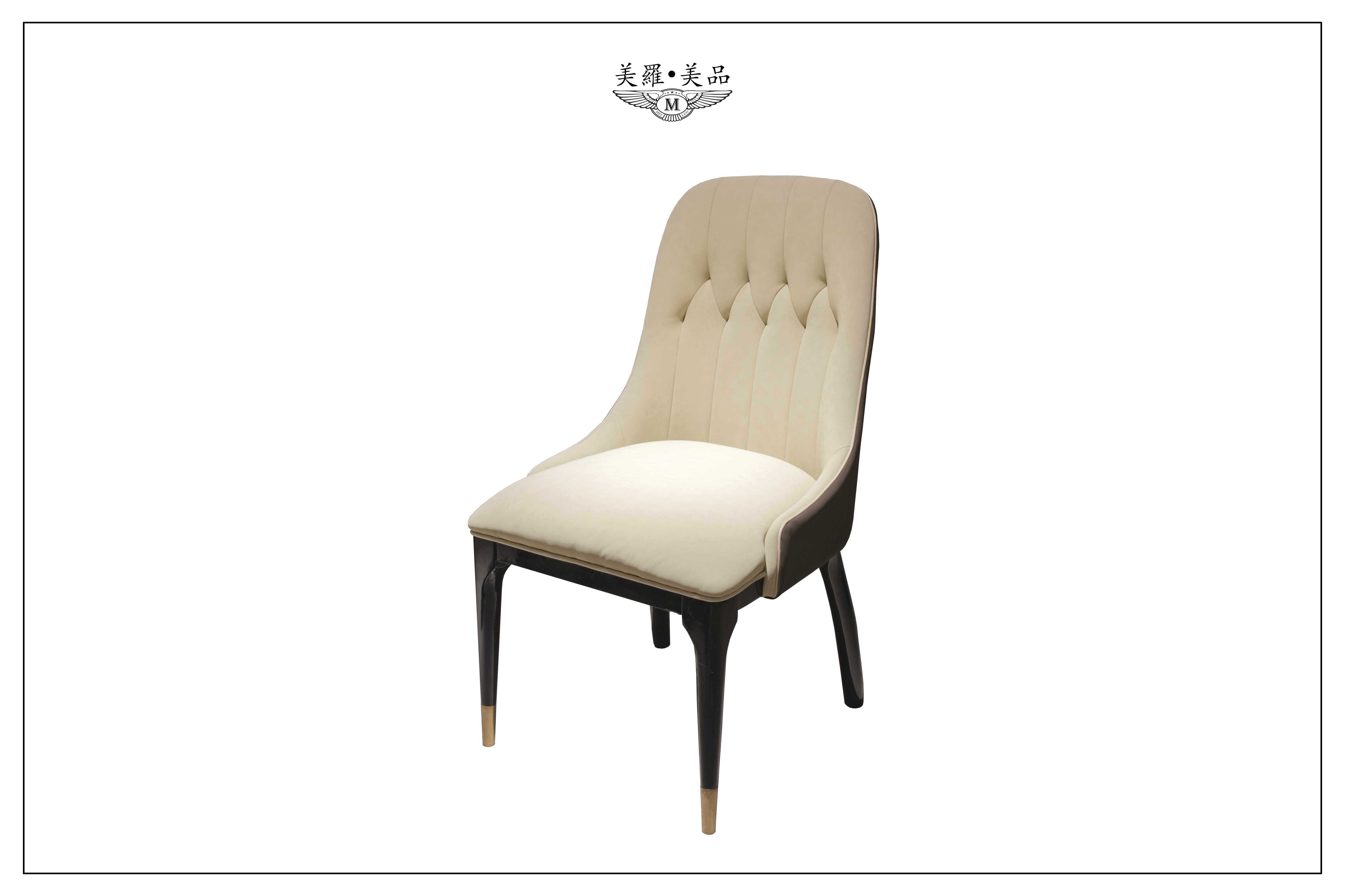 欧式餐椅实木复古皮艺椅_曼洛尼
